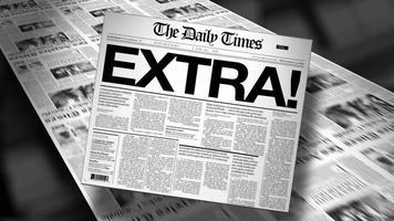 extra! manchete de jornal (revelar e repetir) animação 4k HD