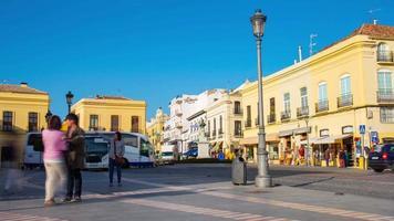 ronda giornata di sole bus turistico piazza 4k lasso di tempo spagna