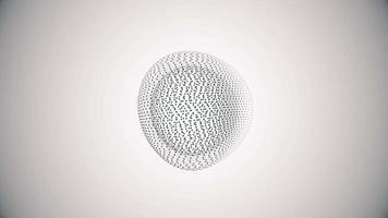 metamorfosi di sfera amorfa da punti e linee