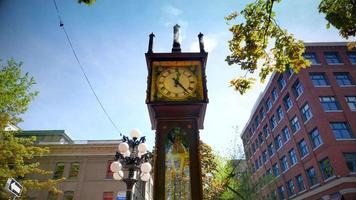 Horloge à vapeur à gaz historique de Vancouver, ville du centre-ville de Gastown
