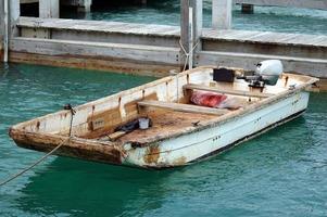 Old grunge boat photo