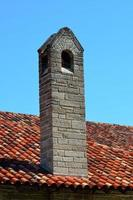 Chimney on a house photo