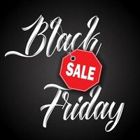 Black Friday sale background  vector