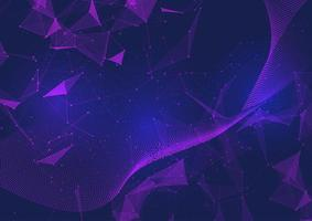 Abstract network communications background with low poly