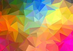Arco iris de colores de fondo abstracto de baja poli