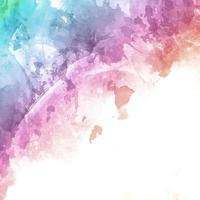 Rainbow colored watercolor texture background vector
