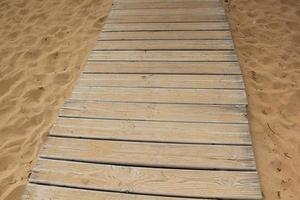 Beach boardwalk path