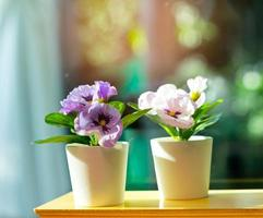 Artificial flowers in a vase