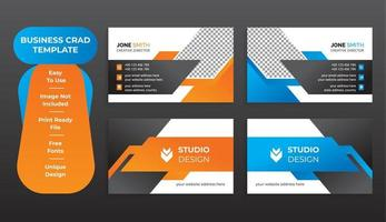 Corporate Business Card Abstract Template Set vector
