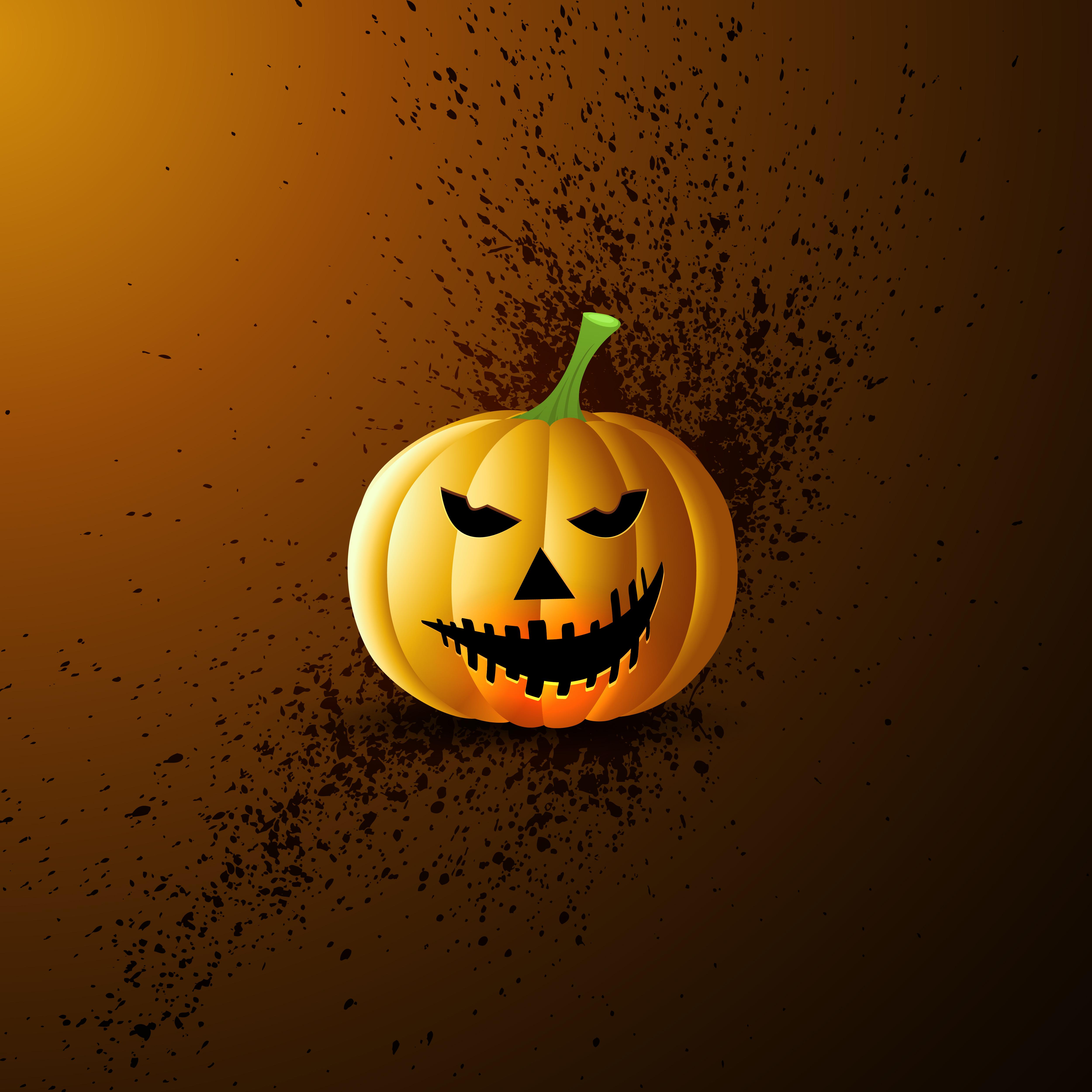 Grunge Halloween Pumpkin Background Download Free Vectors Clipart Graphics Vector Art