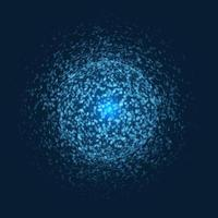Exploding sphere with blue dots.  vector