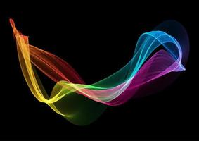 Abstract background with rainbow colored  vector