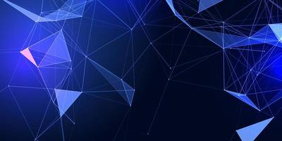 Banner with abstract low poly vector