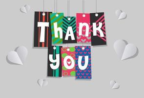 Thank you sticker greeting vector