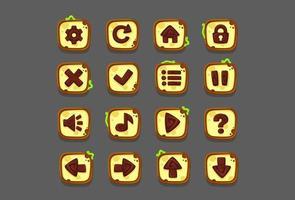 Set of UI elements, set of buttons-part 1 vector