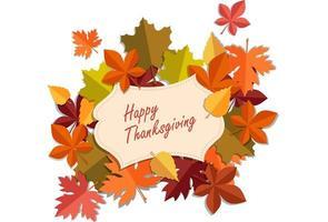 Beautiful Thanksgiving Card vector