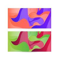 Color gradient abstract geometric background design set vector