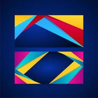 Abstract background set with dynamic effect pattern vector