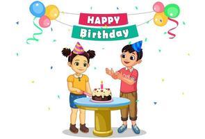 fiesta de cumpleaños de niños vector