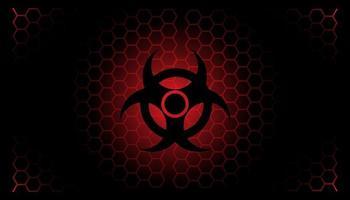 Biohazard banner and background design vector