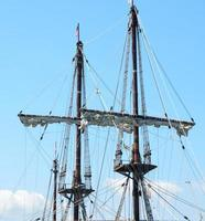 Masts of a galleon ship