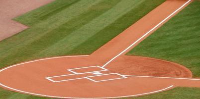 plato de home en un campo de béisbol