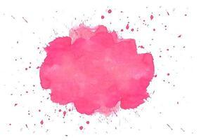 hermosa salpicadura de acuarela rosa suave