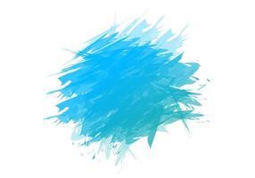Blue splash hand paint strokes vector
