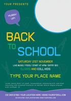 Back to School Poster Design vector