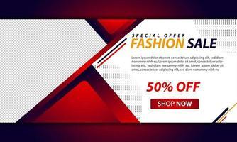 Plantilla de banner web rojo y blanco para negocios corporativos vector
