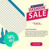 Fashion Ecommerce Social Media Promotion Template vector
