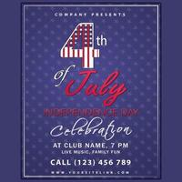 July 4th Independence Day Celebration Poster