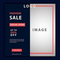 Fashion Sale Promotion Social Media Template vector
