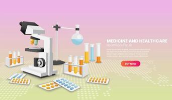 concepto de medicina y salud