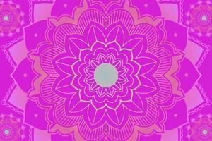 mandala patroon op roze achtergrond