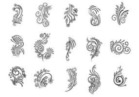 hermosa ilustración de diseño de conjunto floral artístico creativo vector