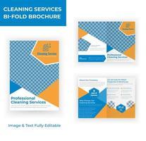 servicio de limpieza plantilla de folleto de diseño de material de marketing vector
