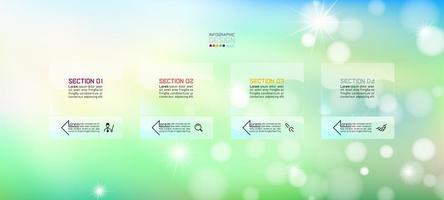 bokeh infographic sjabloon voor spandoek