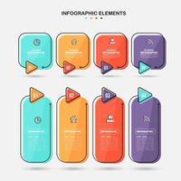infographics elementen sjabloon set