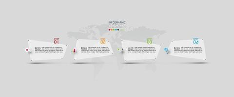 Modern infographic banner template