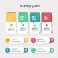Infographics elements template set  vector