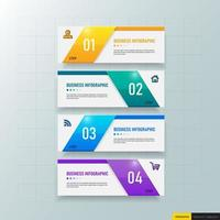 Business infographics banner template vector