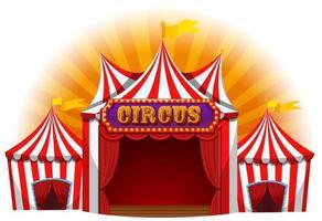 Large fun circus tent vector