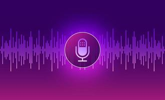 diseño de tecnología de voz vector