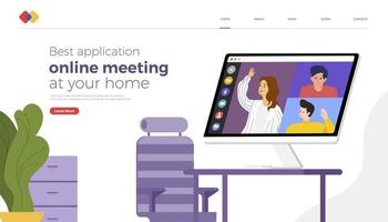 Landing website online meeting app