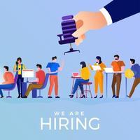 HR chooses an employee from hiring vector