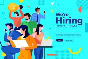 estamos contratando equipo digital vector