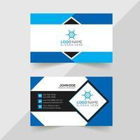tarjeta de visita corporativa y creativa.