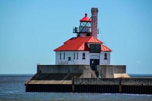 Harbor entrance light house