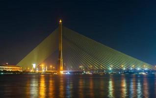 Rama 8 bridge at night photo